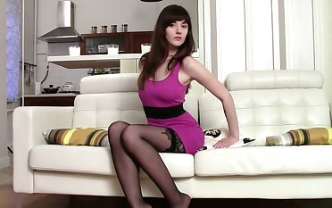 Stocking are sexy to most men increased by this hot ass newborn loves crippling them