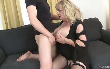 Mature slut plays with her large special and gets ass fucked good