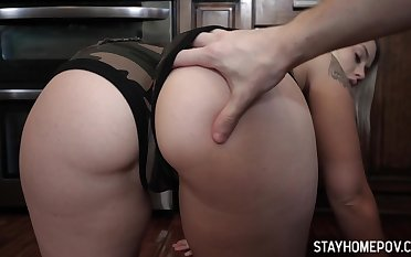 Dude enjoys gaping void throat and yummy ass of naughty stepsister Layla Love