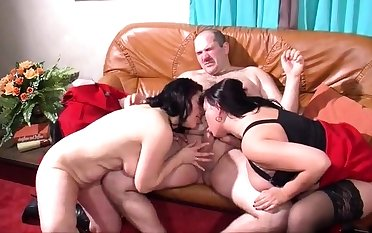 Mature plus busty amateur join in matrimony blowjob plus anal creampie