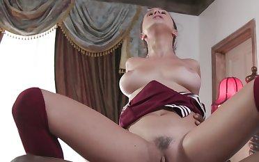 Bust slut gets fucked hardcore by massive big cock