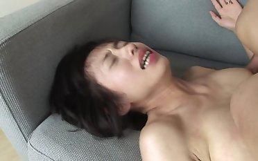Oriental cutie loves giving sex pleasure to man who cums inside