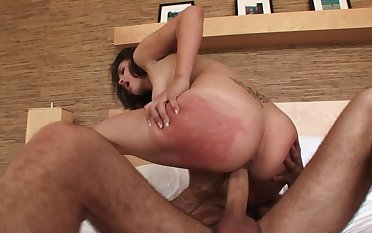 A bitch that loves big cock is feeling one medial her more than the bed