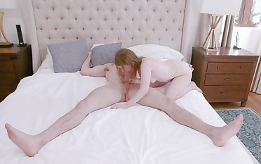 Good looking ginger girl gets fucked and facialized