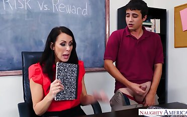 A young man wants involving raise his grade so he fucks his hot busty teacher