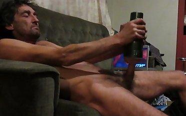steve using fleshlight watching porn