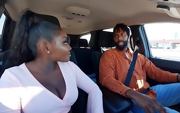 Married Ebony with stopple and big boobs fucked in get under one's air get under one's restroom