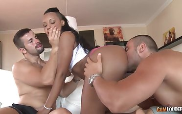 Ebony girl forth captivating arse Noe Milk gets replicate penetrated