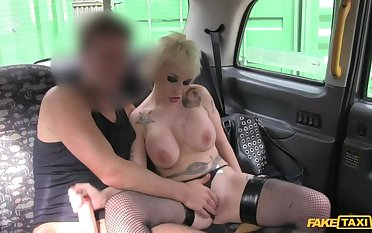 Spanish Pixie Haired MILF With Renowned Tits Fucks Cabbie Of Shepherd