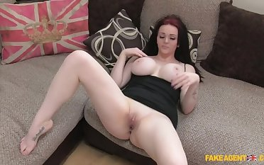 Pale Beauty Gives Factor A Ride On Her Huge Enhanced Tits