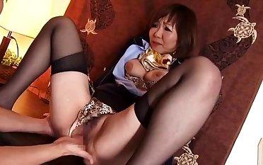 Beauteous oriental jocular mater Sayuri Kotose featuring beautiful ID sex film over