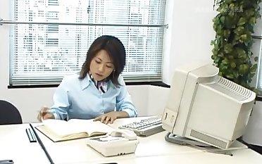 Hot ass Japanese girl Rina Katsura enjoys getting fucked in burnish apply office