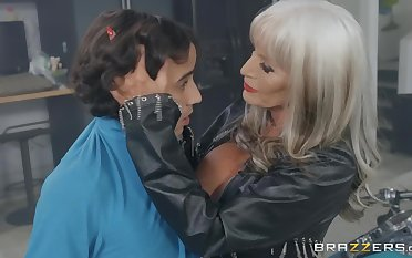 Horny Granny Sally D'Angelo Seduces Latina Youngster Ricky