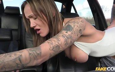 Anal slut gets cop cum anent her butt
