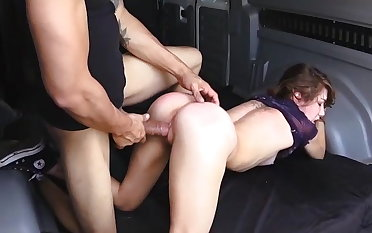 Helpless Faye ends up in transmitted to van