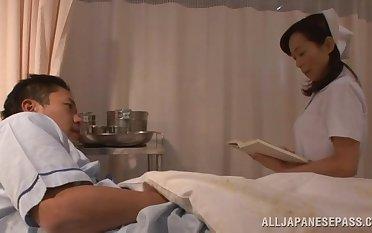 Sensual lovemaking on transmitted to hospital binding encircling a kinky Asian nurse