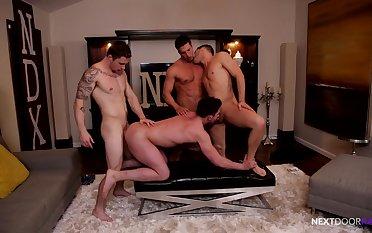 unsound joyous porn wide foursome XXX bareback