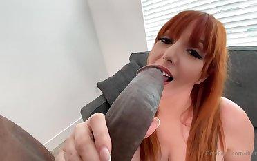 Redhead Milf Gagging On Bbc - Lauren Phillips