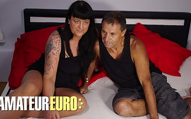 AMATEUREURO - Old German Couple Have Hardcore Sex Superior to before Camera
