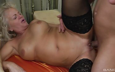 Mature feels nephew's cock deeper than ever