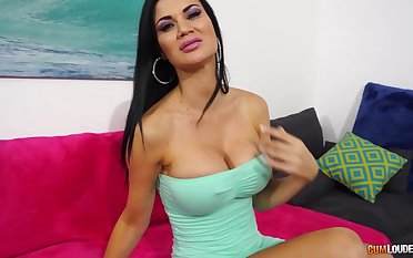 Smoking hot MILF in a skin tight dress just needs go beyond a thus far pussy workout