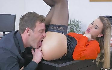Tattooed enchase Katrin Tequila chokes on a dick in front riding