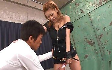 Kinky japanese tits examination