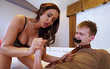 Femdom-style sex with a gardener