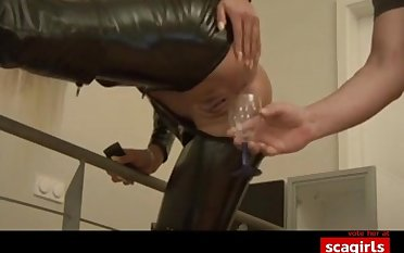 Hot german babe gets anal creampie