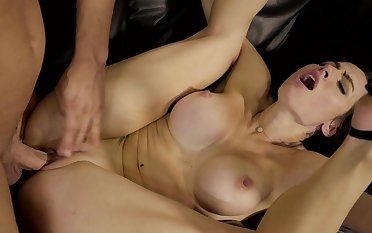 Busty beauty can't stop riding the cock like a whore