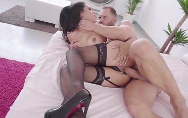 Katrina Moreno hardcore sex on the couch with sperm to swallow