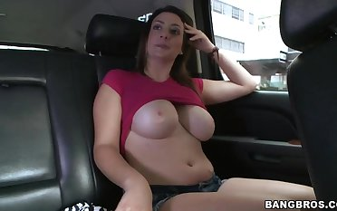 Chubby pale Tiffany Cross teases with her melons
