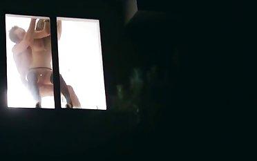 Rachel Roxxx and Ryan Madison perform Dutch-kiss