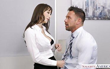 Sexy secretary Lexi Luna seduces handsome co-worker Johnny castle