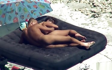 Amateur Horny Nudist Couple Playing On The Beach Voyeur Spy