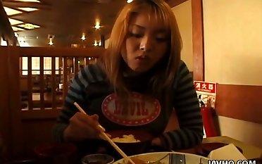Miasmic Jap Freulein Misato Nakayama to be sure exposes her juicy boobies