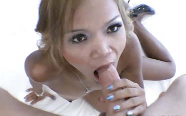 Cute Thai girl filled with cock and cum