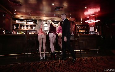 Hot Carly Rae adores doggy refresh after a blowjob in the night bar