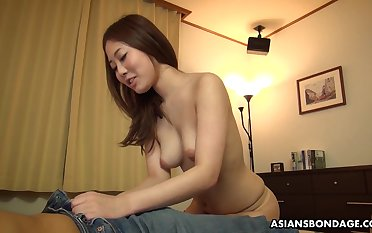 Dirty minded, amateur chick, Yui Shiina likes to get throatfucked