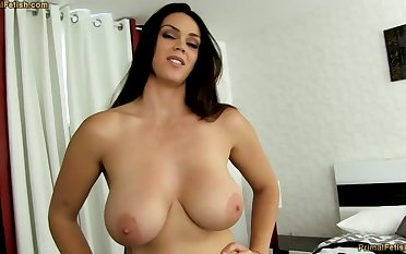 Sensual dark-haired with fat funbags, Alison Tyler luvs to deep-throat meatpipe together with connexion some new jizm