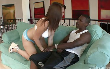 White chick with red hair Falter Chloe goes black and gets her booty jizzed