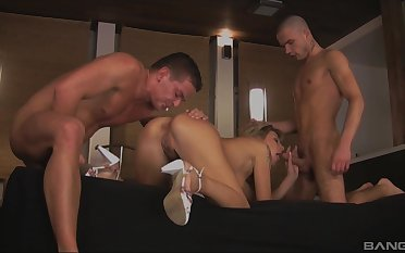 Hot Kristi Lust likes hard threesome more than anything else