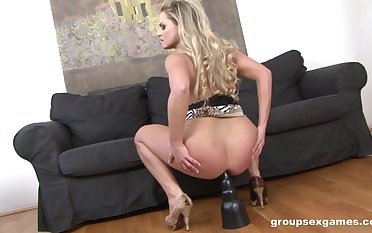 Barra Brass rides her chunky trifle before getting busy with the BBC