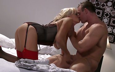 At hand pay back for kinky boobies sucking workout MILF Stormy Daniels gives BJ