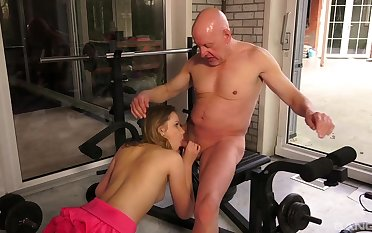 Superannuated and young amateur coitus in a sensual XXX scene