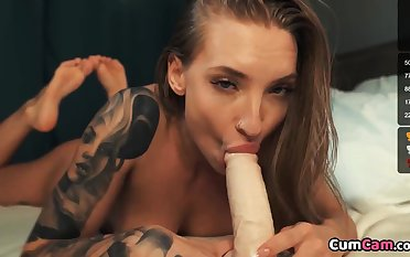 Dildo Riding And Sucking On Christmas Day