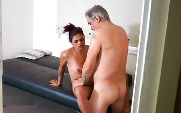 Spying friend joins in for a threesome